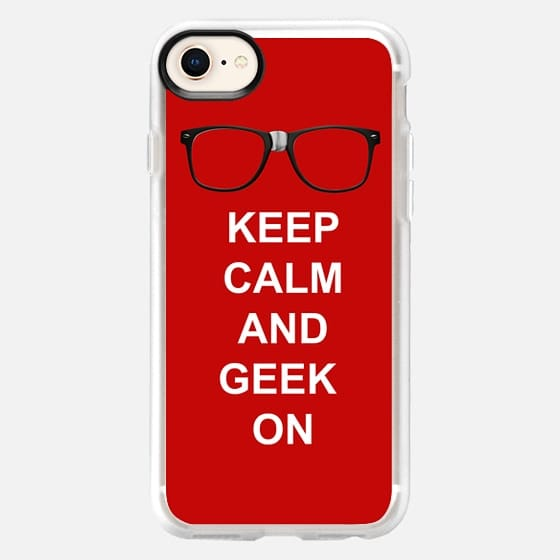 Geeky Nerd Glasses, Keep Calm and Geek On - Snap Case