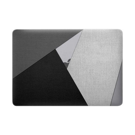 Black, White, and Grey Tri-Cut Fabric