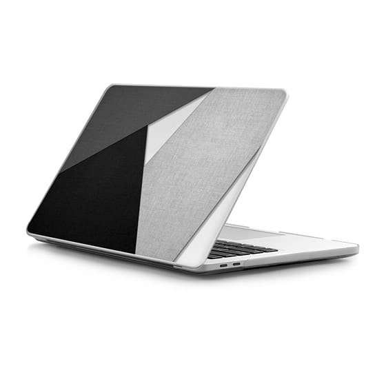 MacBook Pro Touchbar 13 Sleeves - Black, White, and Grey Tri-Cut Fabric