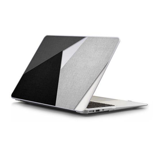 MacBook Air 11 Sleeves - Black, White, and Grey Tri-Cut Fabric