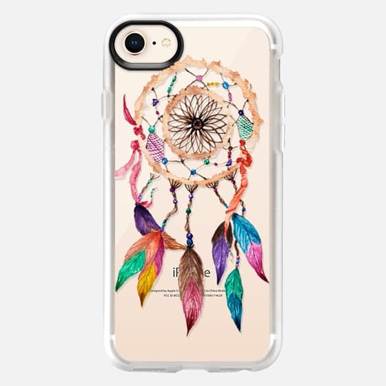 Native American Watercolor Beads and Jewels Boho Feather Dream Catcher - Snap Case