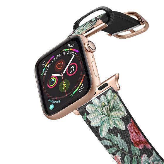 Apple Watch 38mm Bands - Cute Succulent Watercolor Painted Flower  Cactus Pattern
