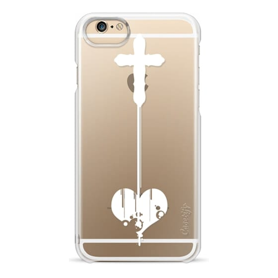 Ultra Impact Iphone X Case White Cross And Heart Cutout On Transparent Background