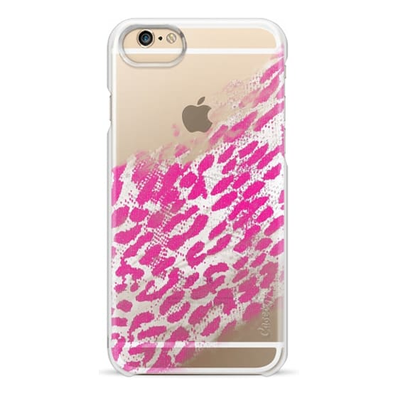 iPhone 6s Cases - Pretty Pink and White Leopard Animal Print Fade on Transparent Background