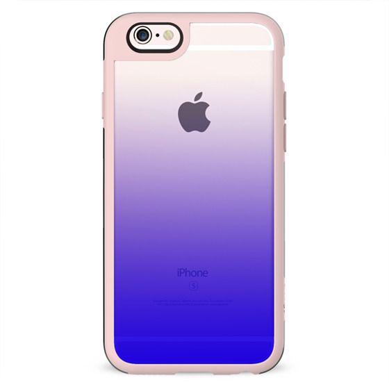 Simple Trendy Neon Blue to Transparent Gradient