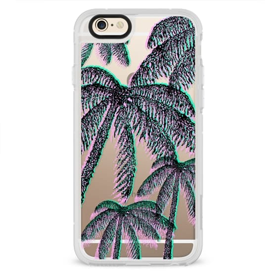iPhone 6s Cases - Teal Pink Black Summer Tropical Palm Trees