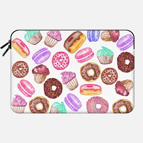 Yummy Watercolor Donuts Cookies Cupcakes and Muffin Dessert -