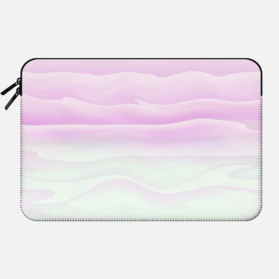 Girly Elegant Modern Soft Pink and White Abstract Waves -