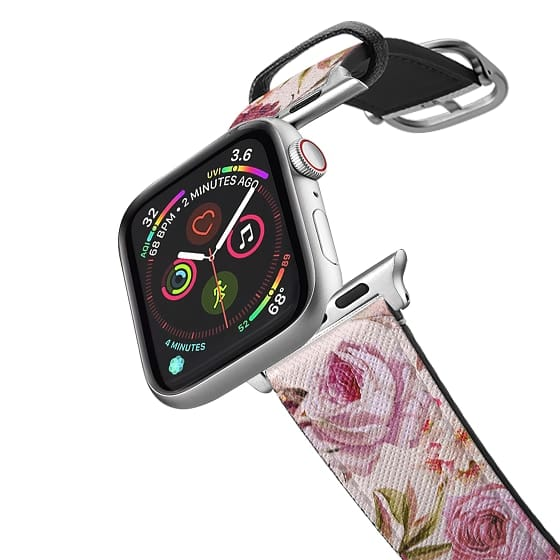 Apple Watch 38mm Bands - Blush Pink Rose Watercolor Chic Illustration Floral Pattern