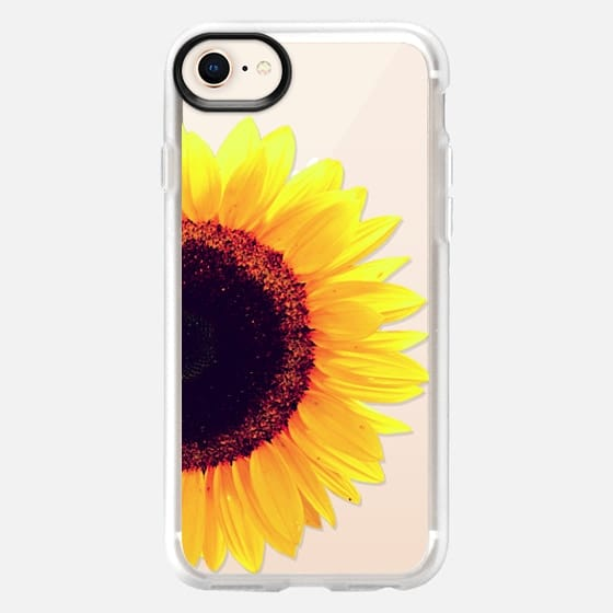 Bright Yellow Summer Sunflower Flowers on Transparent Background - Snap Case