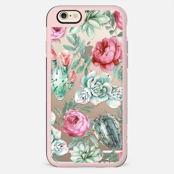 Cute Succulent Watercolor Painted Flower  Cactus Pattern - New Standard Case