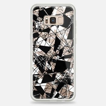 Samsung Galaxy S8+ Case Linear Abstract Black White Triangle Pattern