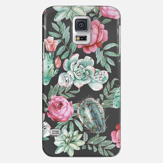 Casetify Samsung Galaxy / LG / HTC / Nexus Phone Case - Cute Succulent Watercolor Painted Flower Cactus Pattern