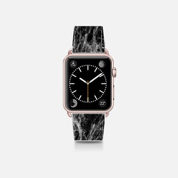 Apple Watch Band (38mm)  Modern Trendy Black and White Marble Stone Pattern