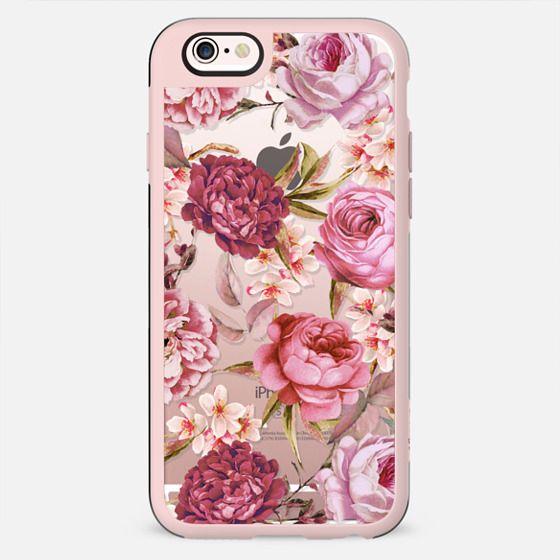 Blush Pink Rose Watercolor Chic Illustration Floral Pattern - New Standard Case