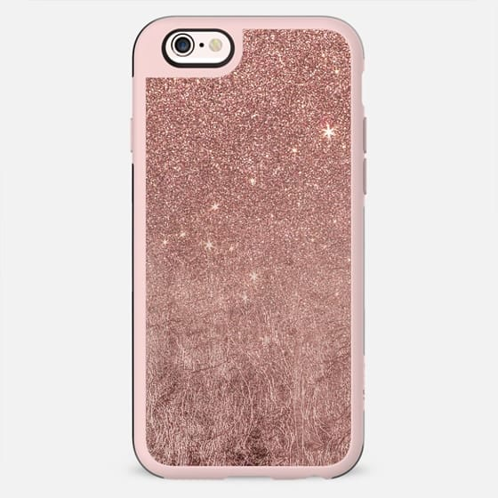 Girly Glam Faux Pink Rose Gold Foil and Glitter Mesh - New Standard Case