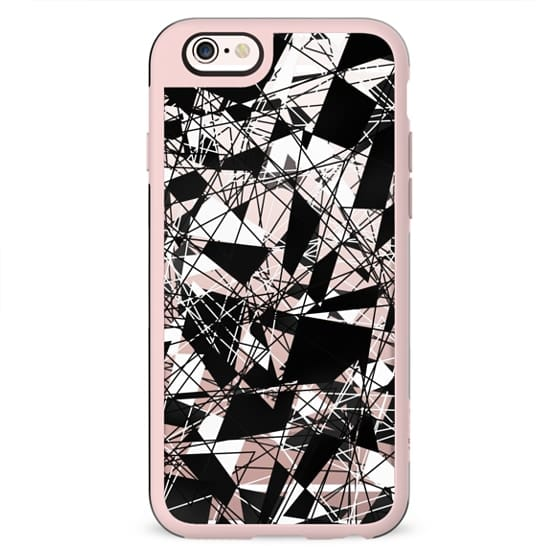 Linear Abstract Black White Triangle Pattern