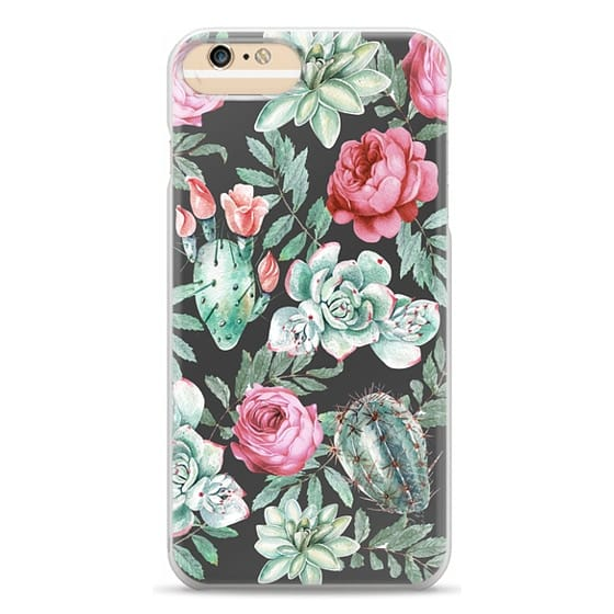 iPhone 6 Plus Cases - Cute Succulent Watercolor Painted Flower  Cactus Pattern