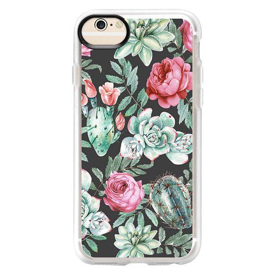 iPhone 6 Cases - Cute Succulent Watercolor Painted Flower  Cactus Pattern