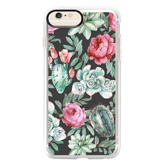 iPhone 6s Plus Cases - Cute Succulent Watercolor Painted Flower  Cactus Pattern