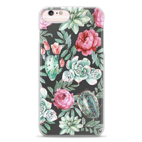 iPhone 6s Plus Cases - Cute Succulent Watercolor Painted Flower  Cactus Pattern