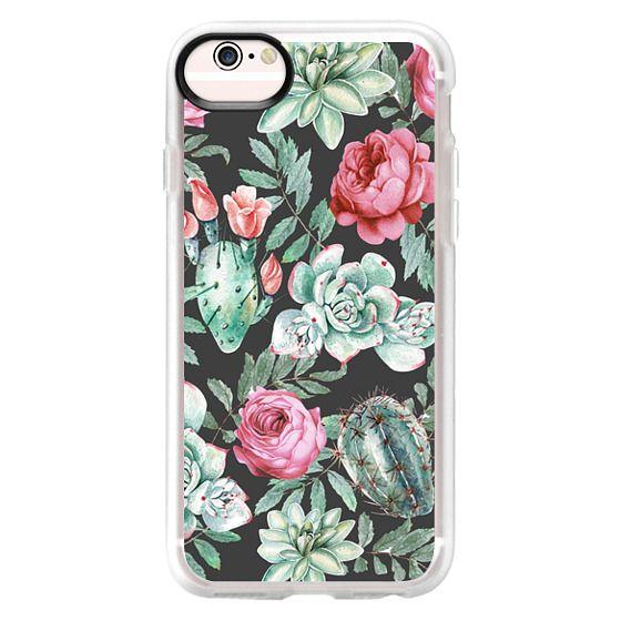 iPhone 6s Cases - Cute Succulent Watercolor Painted Flower  Cactus Pattern