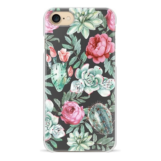 iPhone 7 Cases - Cute Succulent Watercolor Painted Flower  Cactus Pattern