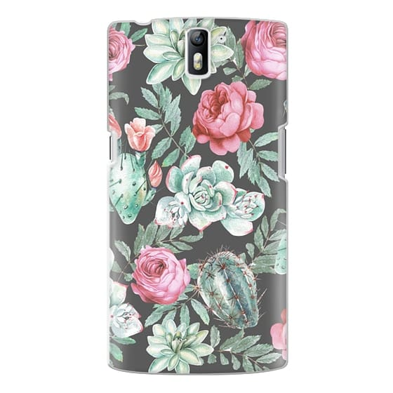 One Plus One Cases - Cute Succulent Watercolor Painted Flower  Cactus Pattern