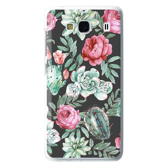 Redmi 2 Cases - Cute Succulent Watercolor Painted Flower  Cactus Pattern