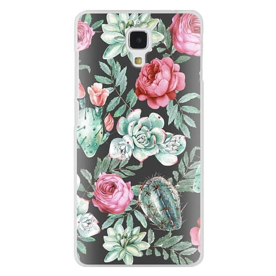 Xiaomi 4 Cases - Cute Succulent Watercolor Painted Flower  Cactus Pattern