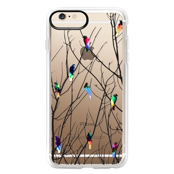 iPhone 6 Plus Cases - Trendy Watercolor Birds on Black Tree Branches