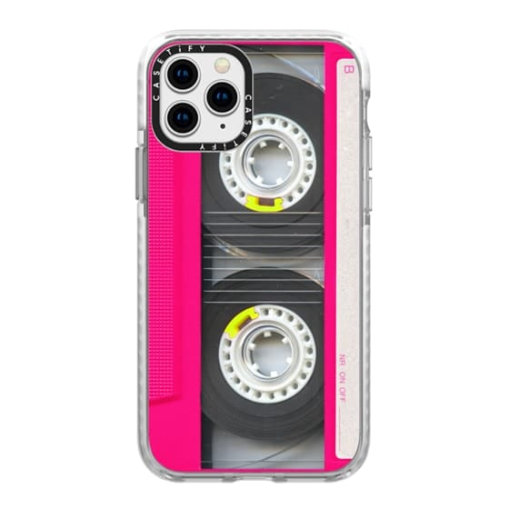 iPhone 11 Pro Cases - Cool Retro Neon Pink Cassette Tape
