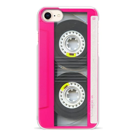 iPhone 8 Cases - Cool Retro Neon Pink Cassette Tape