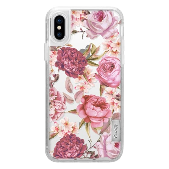 iPhone X Cases - Blush Pink Rose Watercolor Chic Illustration Floral Pattern