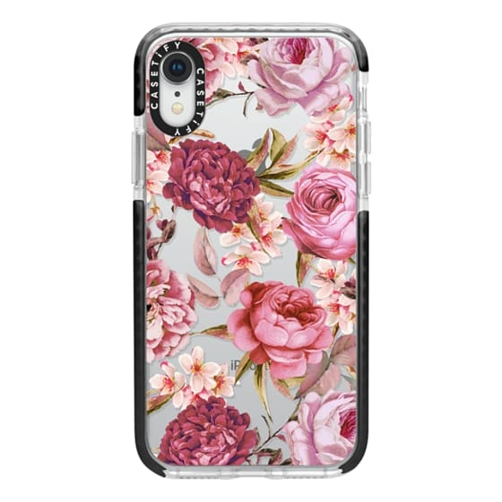 iPhone XR Cases - Blush Pink Rose Watercolor Chic Illustration Floral Pattern
