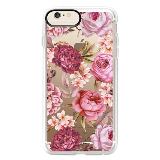 iPhone 6s Plus Cases - Blush Pink Rose Watercolor Chic Illustration Floral Pattern