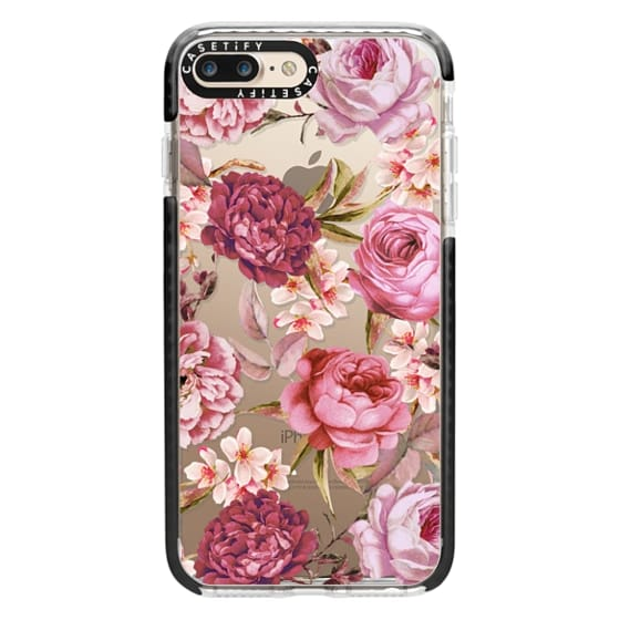 iPhone 7 Plus Cases - Blush Pink Rose Watercolor Chic Illustration Floral Pattern