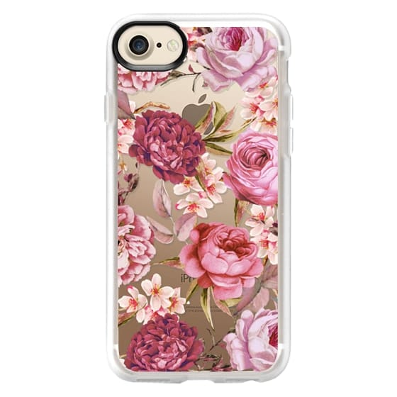 iPhone 7 Cases - Blush Pink Rose Watercolor Chic Illustration Floral Pattern