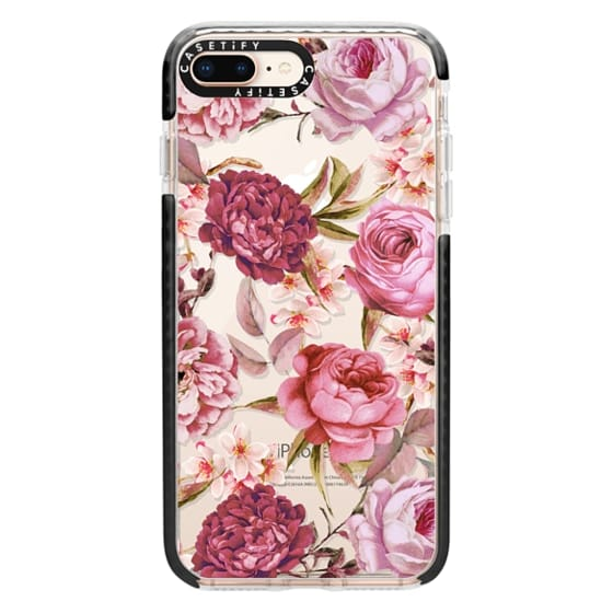 iPhone 8 Plus Cases - Blush Pink Rose Watercolor Chic Illustration Floral Pattern