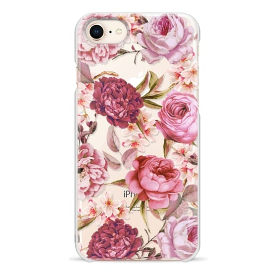iPhone 8 Cases - Blush Pink Rose Watercolor Chic Illustration Floral Pattern