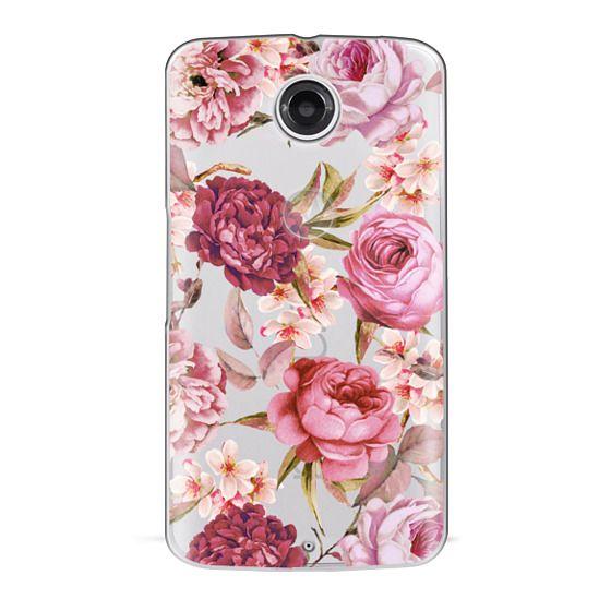Nexus 6 Cases - Blush Pink Rose Watercolor Chic Illustration Floral Pattern