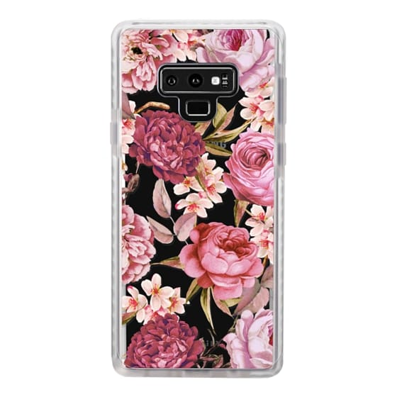 Samsung Galaxy Note 9 Cases - Blush Pink Rose Watercolor Chic Illustration Floral Pattern