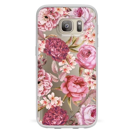 Samsung Galaxy S7 Cases - Blush Pink Rose Watercolor Chic Illustration Floral Pattern