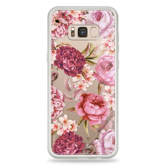 Samsung Galaxy S8 Plus Cases - Blush Pink Rose Watercolor Chic Illustration Floral Pattern