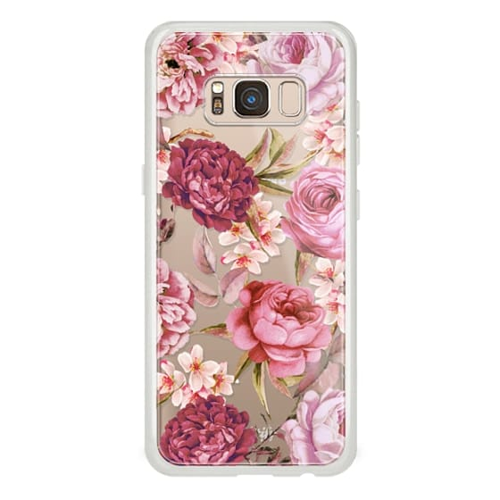 Samsung Galaxy S8 Cases - Blush Pink Rose Watercolor Chic Illustration Floral Pattern