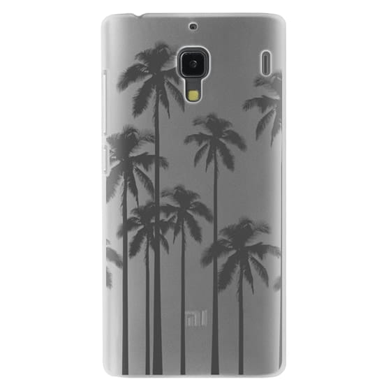 Black Summer Palm Trees on Transparent Background