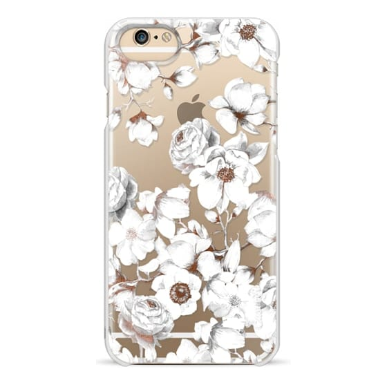 iPhone 6 Cases - Trendy Elegant Watercolor White Floral Chic Pattern