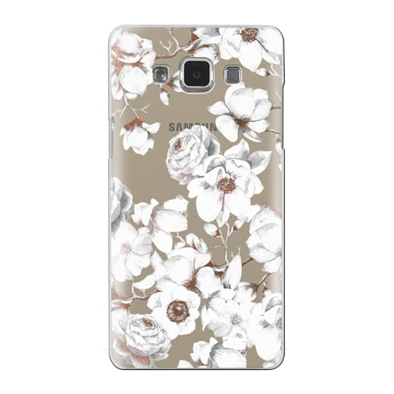 Samsung Galaxy A5 Cases - Trendy Elegant Watercolor White Floral Chic Pattern