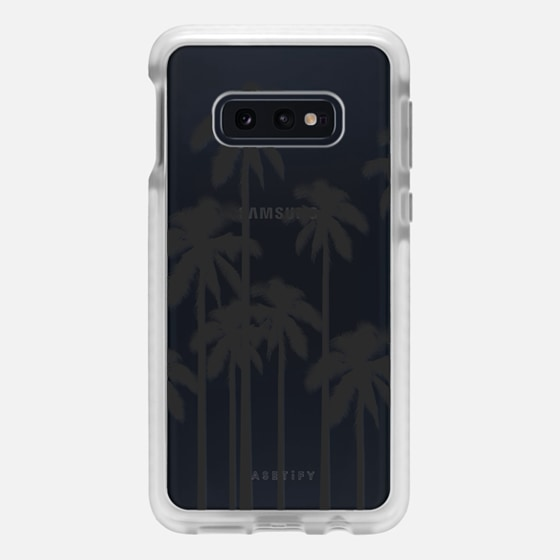 Samsung Galaxy / LG / HTC / Nexus Phone Case - Black Summer Palm Trees on Transparent Background