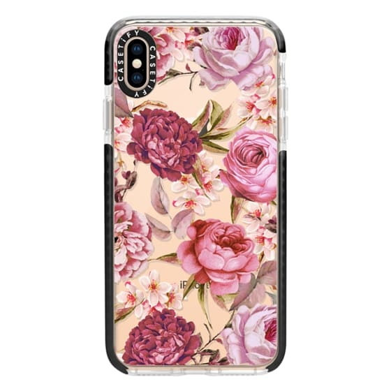 iPhone XS Max Cases - Blush Pink Rose Watercolor Chic Illustration Floral Pattern